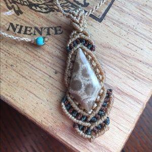 Jewelry - Hippie Festival braided knot necklace